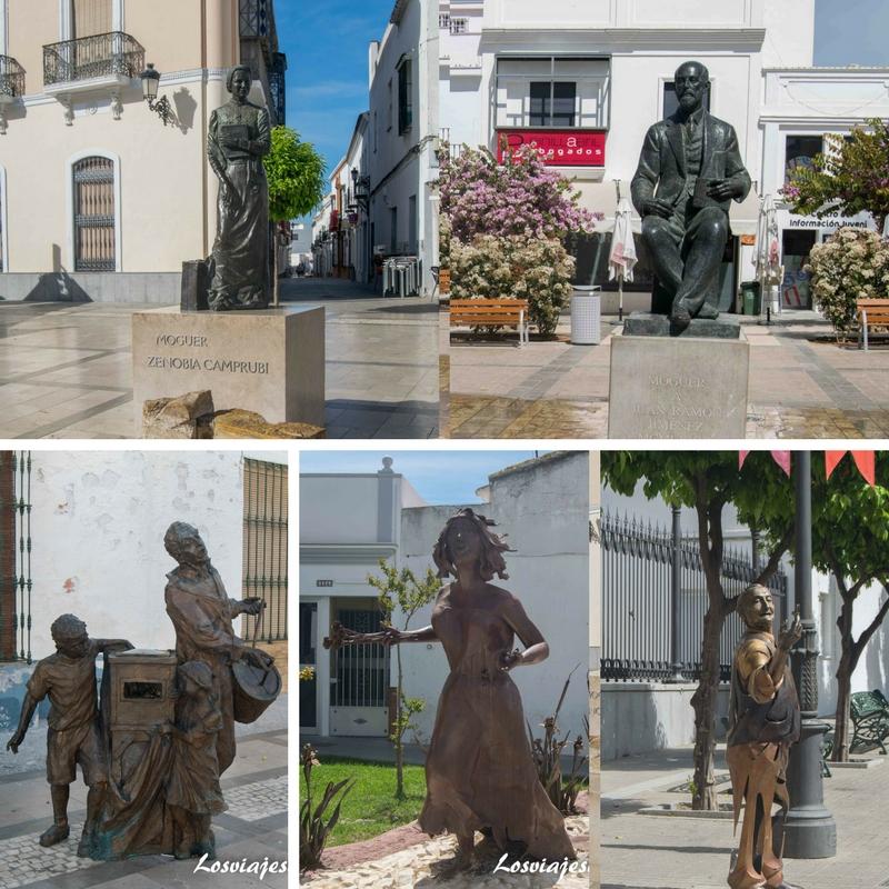 Museo al aire libre de esculturas en Moguer - Los viajes de Margalliver